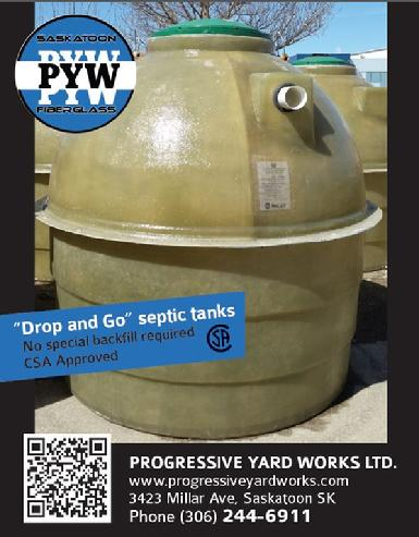 PYW - Drop and Go Fiberglass Septic tank