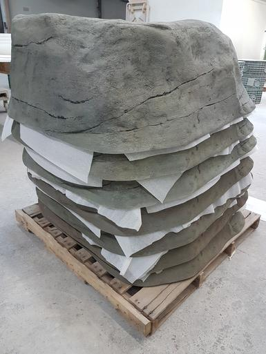 Stackable Fiberglass rocks from PYW